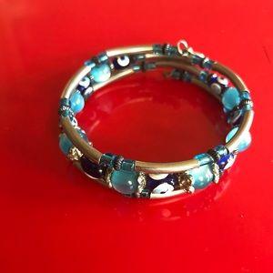 Beautiful Silver Evil Eye Bracelet